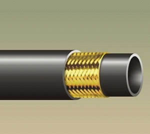 Steam hose of copper braided wire reinforced middle layer